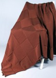 Плед вязаный Квадрат (т. коричневый)