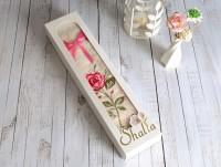 Shalla NATALIE Ecru (молочный) Полотенце с вышивкой